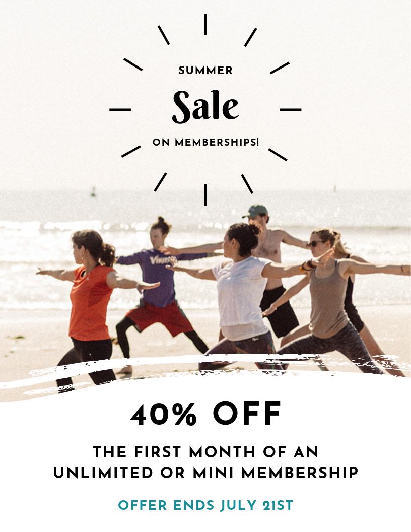 Summer yoga membership sale