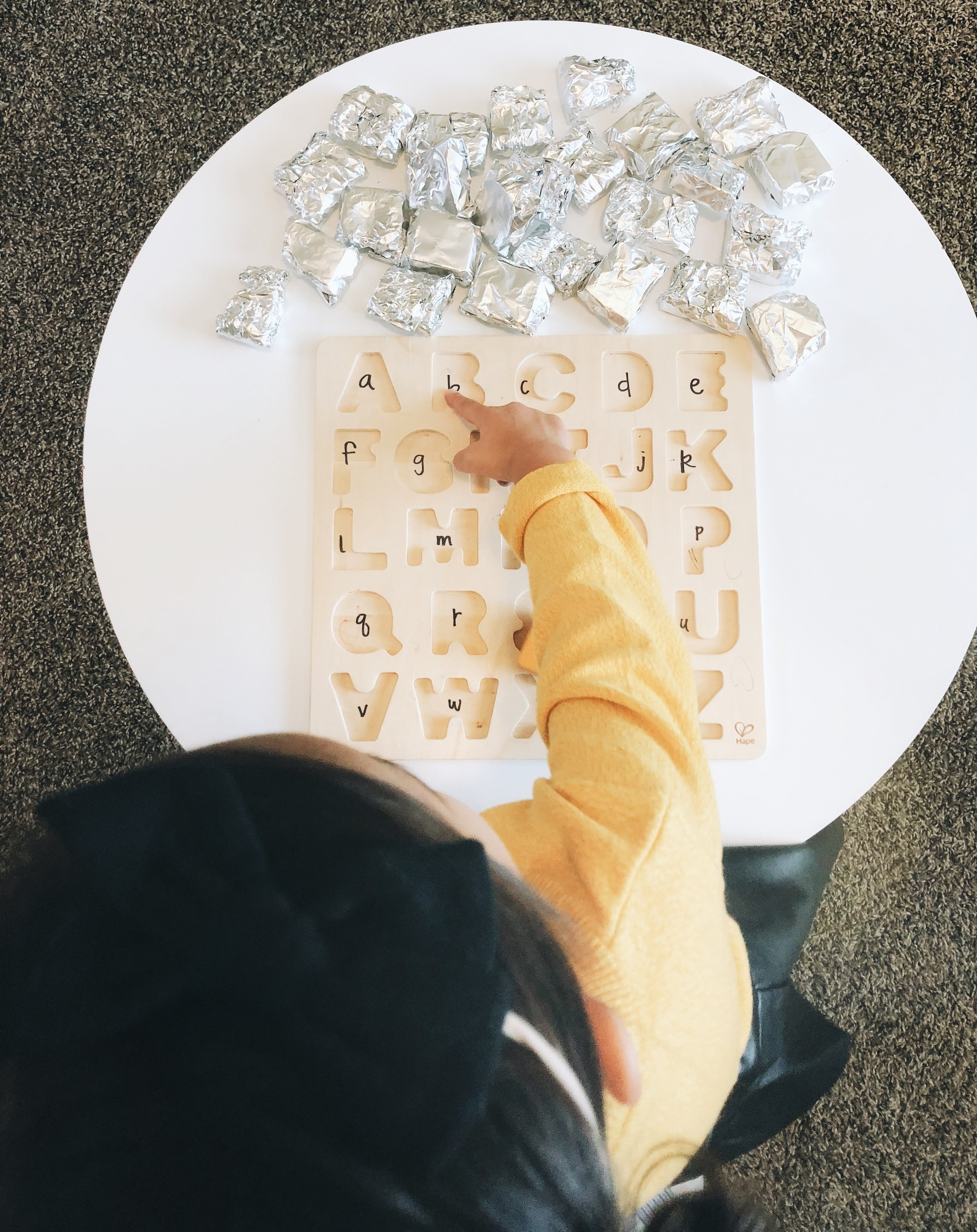 We love our Alphabet puzzle! We are constantly coming up with ways to use it in play! If you currently don't have one, add it to your amazon list ;)