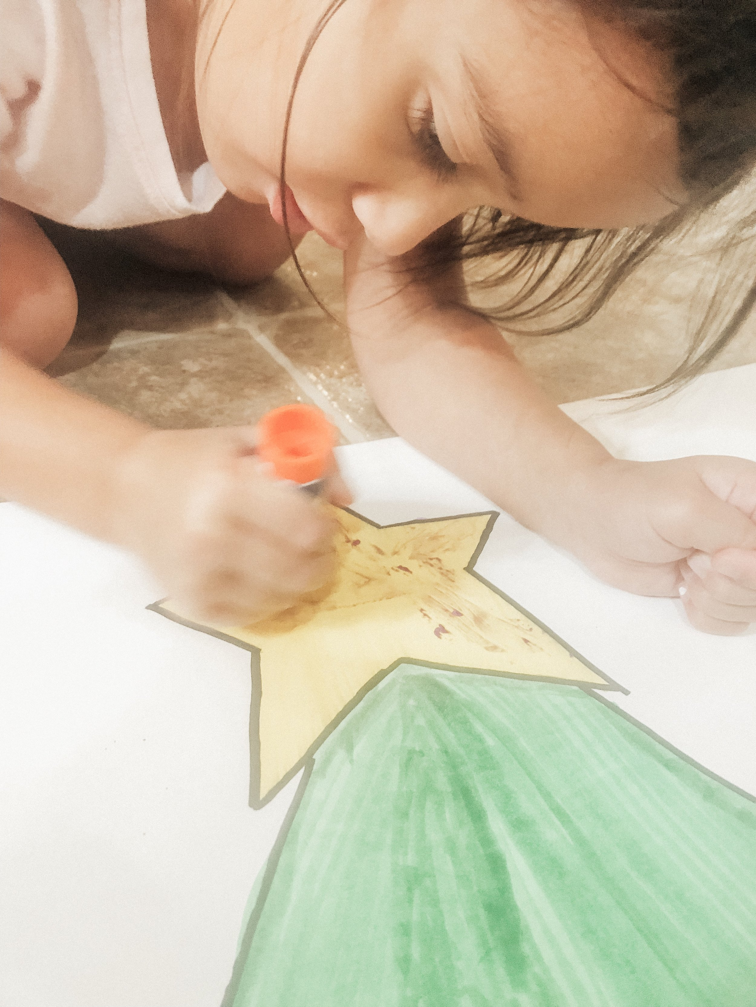 She told me the star HAD to have glitter!