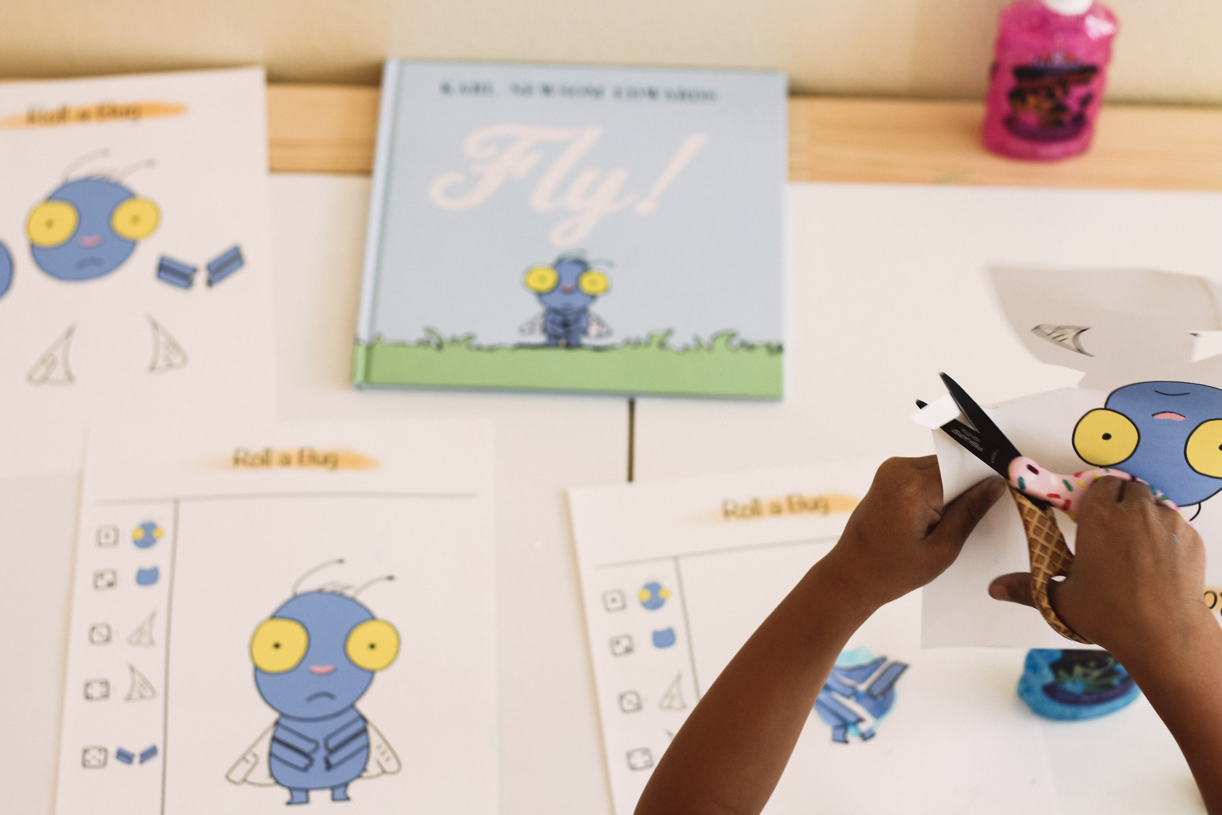 Roll a Bug activity with three printables to accommodate different developmental levels!