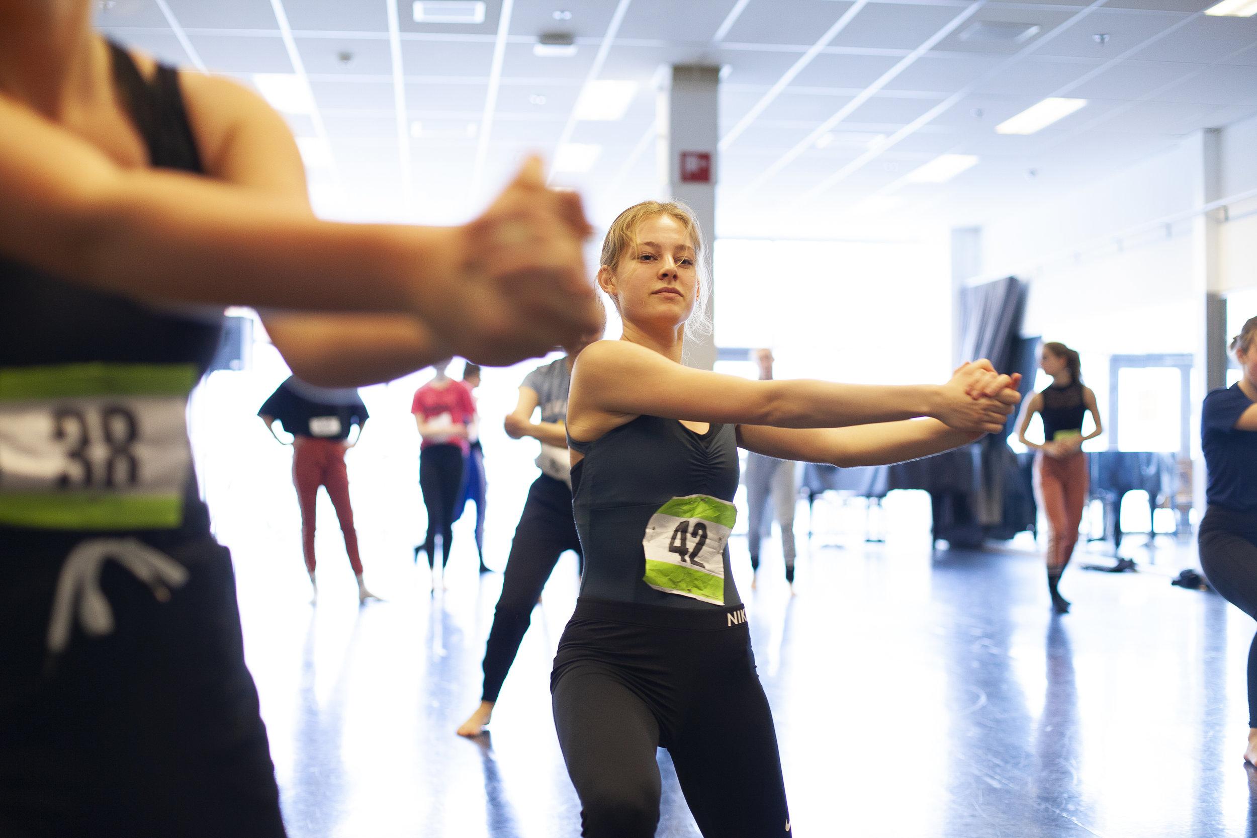 De auditie voor het examenstuk met Krisztina de Chȃtel. Fotograaf Wouter de Wit.