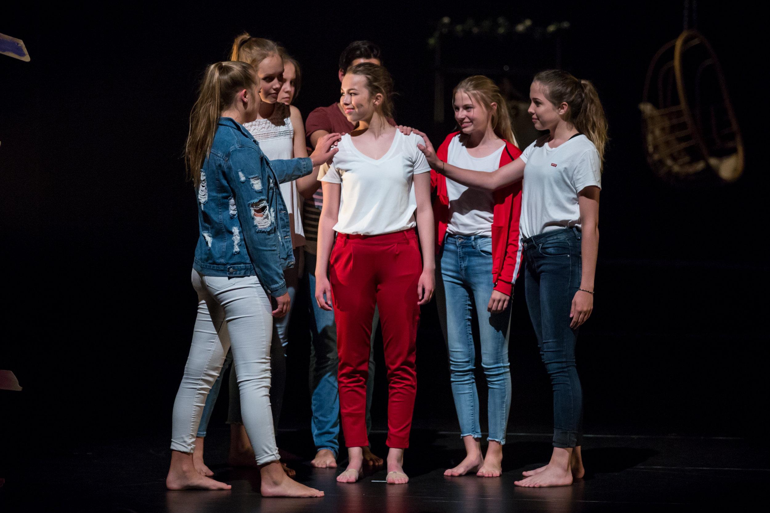 Acteerklas in Orpheus te Apeldoorn. Fotograaf: Gerda van Loo