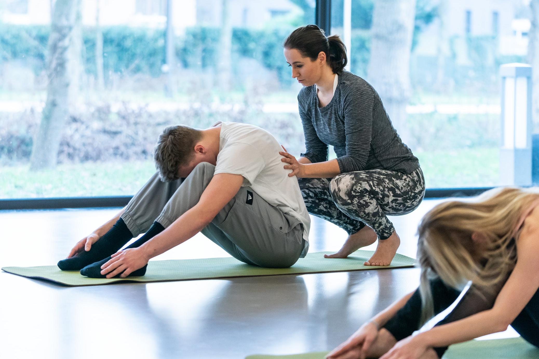 Jacqueline werkte vier jaar lang als STOTT-Pilatesdocent in Utrecht. Fotograaf: Sjoerd Derine