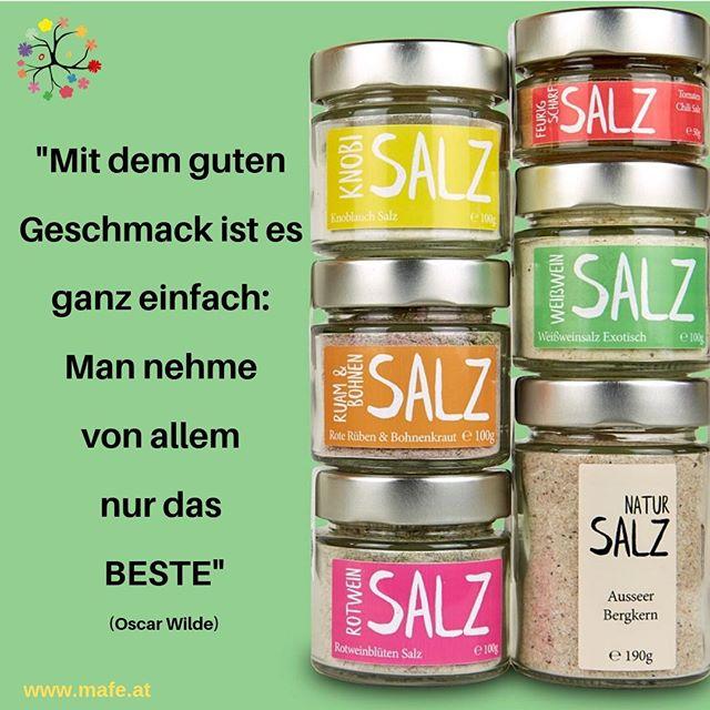 """""""Mit dem guten Geschmack ist es ganz einfach: Man nehme von allem nur das BESTE"""" (Oscar Wilde) #lebensweisheit  😋🌞😋 ♧ ♧ ♧ ❓❓ Nimmst Du Dir auch schon überall nur das BESTE???  ♧⠀ Ich wünsch Dir einen erholsamen und genussvollen Feiertag 😋 Alles Liebe, Marion 💚⠀ ♧ ♧ ♧ ♧ #genuss #genuß #genussmensch #genussmanufaktur #kräuter #gastgeschenk #weinsalz #rotweinsalz #genussmomente #hochzeitsgastgeschenk #schenkenmachtfreude #mitbringsel  #austrianfoodblogger #mafegenuss #gesundleben #gewürz #gewürze #spiceupyourlife #lebensweisheit #zitateaufdeutsch #zitatdestages"""