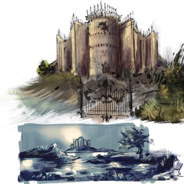 #environmentsketching #doodles #castlesinthesky #ipadpro #procreate #maxpacks #drawing #thumbnails #illustrations
