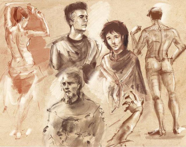 #sketchbook #chalkart #pencildrawing #doodle #sketchdaily #figuredrawing #parchment #illustratedjournal #maxpacks #procreate #ipadpro #latenightsketch