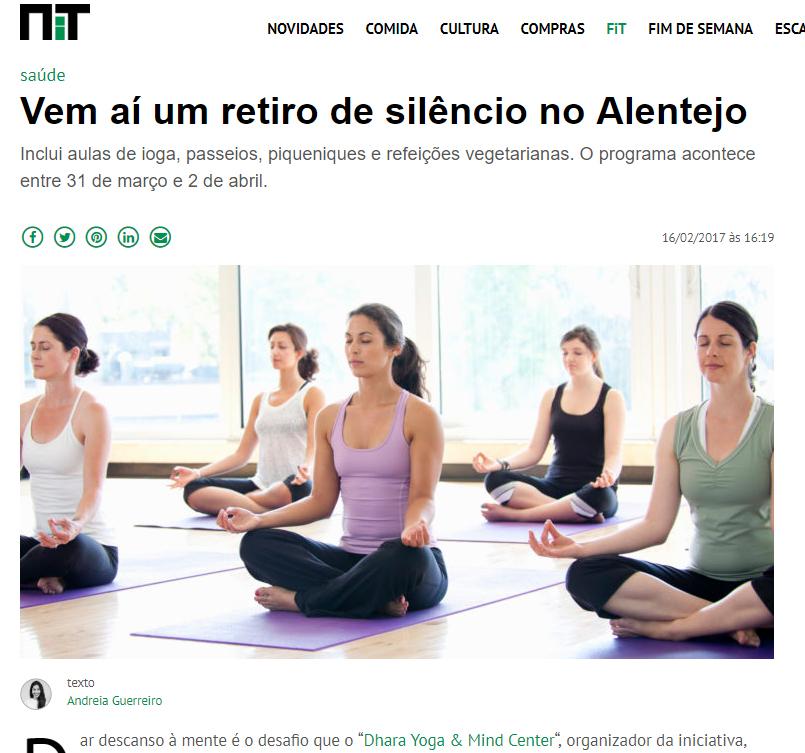 NiT | FEVEREIRO 2017   Retiro de Silêncio, Março 2017 Herdade da Matinha