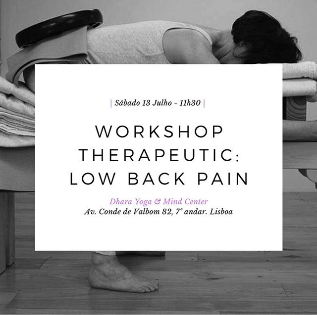 Next Saturday 13th July, 11:30 👉THERAPEUTIC WORKSHOP ON LOW BACK PAIN | 2,5 H WITH CERTIFIED TEACHER | 20€. Intended for yoga practitioners & teachers with interest in expanding knowledge on how to practice in cases of suffering low back pain. We'll learn how to create space in those areas where there is tension, to strengthen those that are weak and to correct body alignment looking forward to a more harmonious and healthy daily posture.📍Workshop will be given in English📍Requirement: 1 year of yoga practice📍Previous subscription is mandatory 📩iyengaremlisboa@gmail.com | For more info visit bit.ly/workshop_lowbackpain2 . . . #yoga #iyengar #iyengaryoga #yogi #workshop #therapeutic #lowbackpain #yogaeveryday #practiceandalliscoming #healthybody #lisbon #lisboa #lx