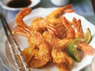 tempura prawns -