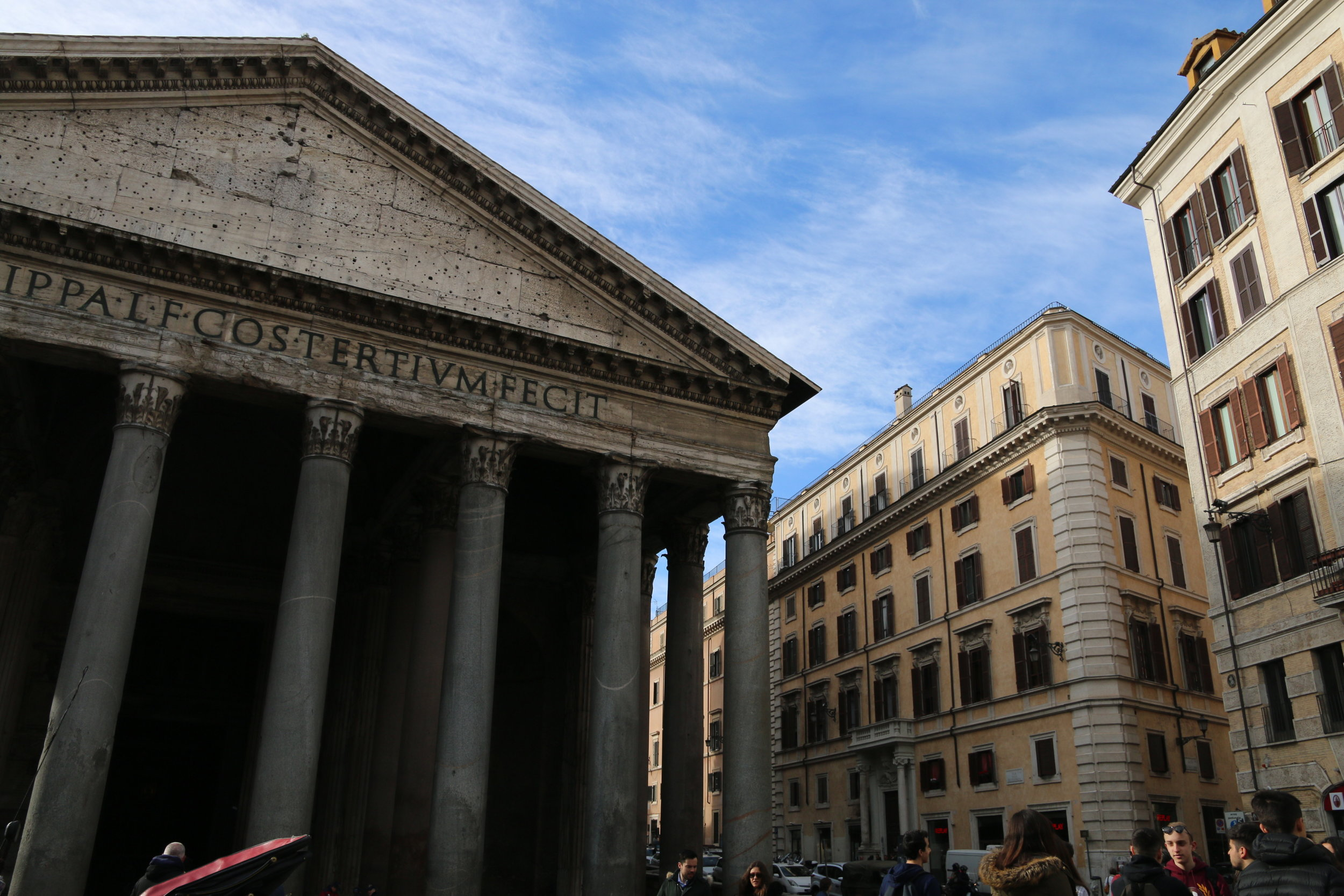 Pantheon - the most complete building of Ancient Rome (125 AD)