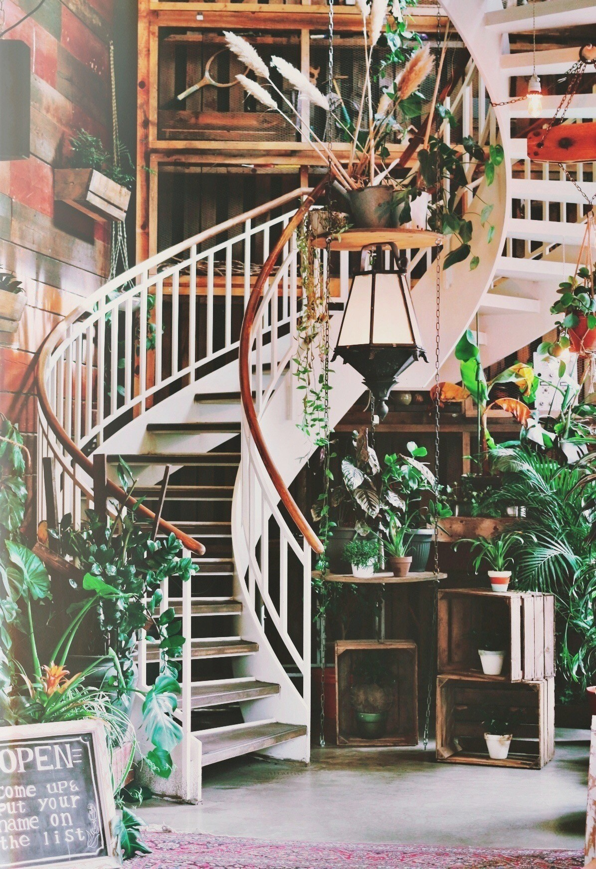 The famous stairway at House of Small Wonder