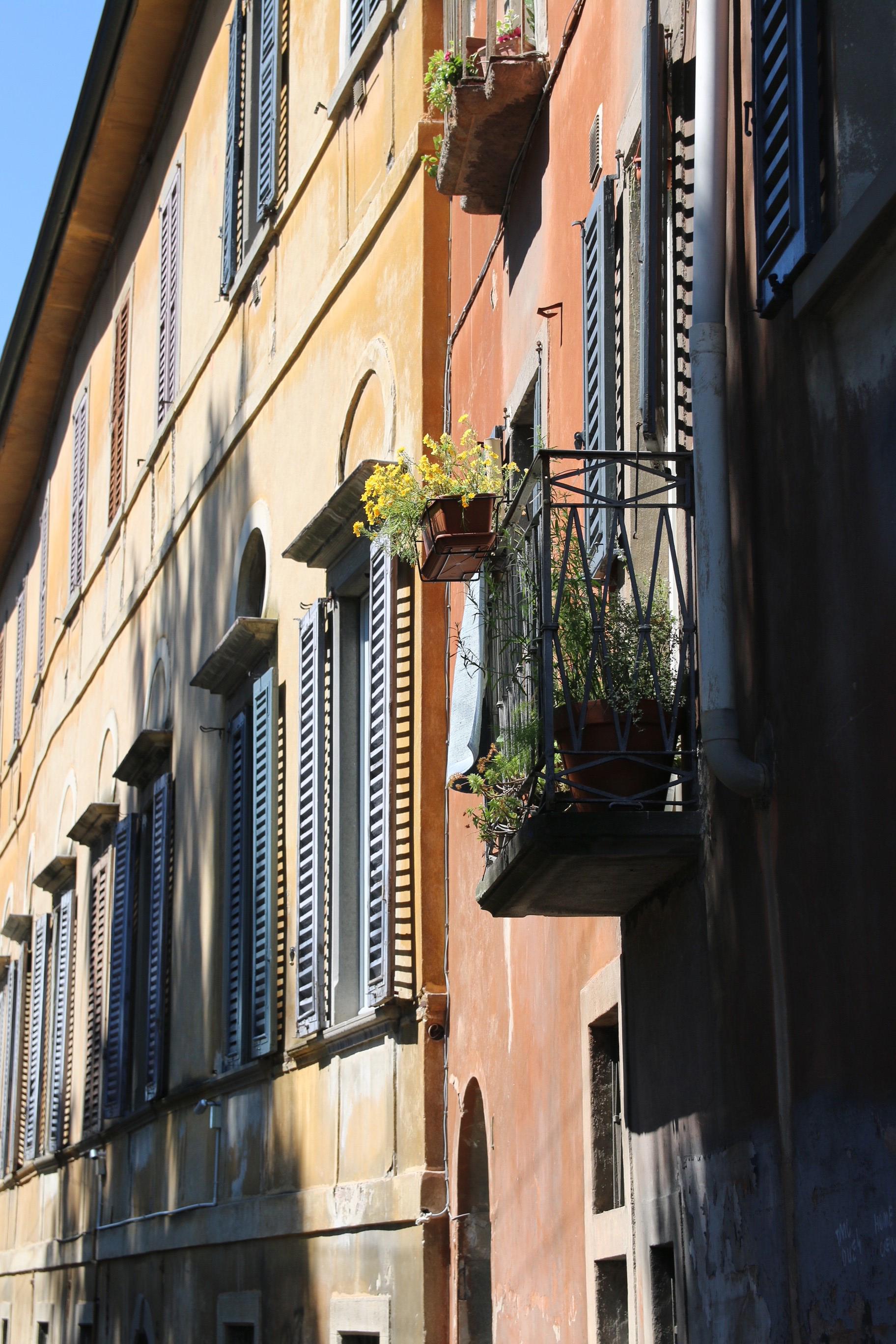 Beautiful houses of Bergamo