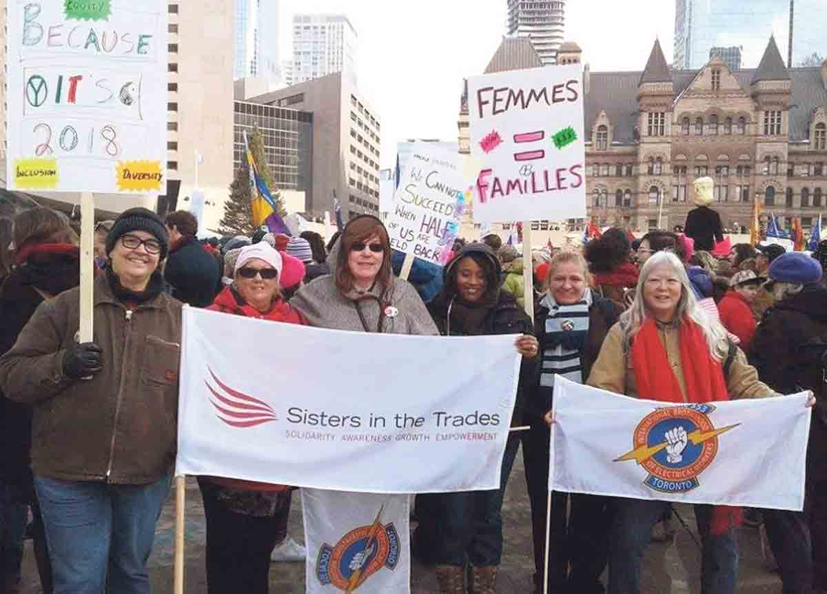 IBEW 353 Sisters in the Trades at the Women's March
