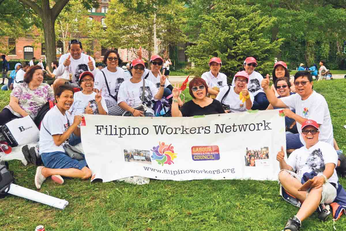 Members of the Toronto & York Region District Labour Council have long fought for the rights of diverse worker communities. Shown: Filipino Workers Network marking Labour Day 2018.  Supplied