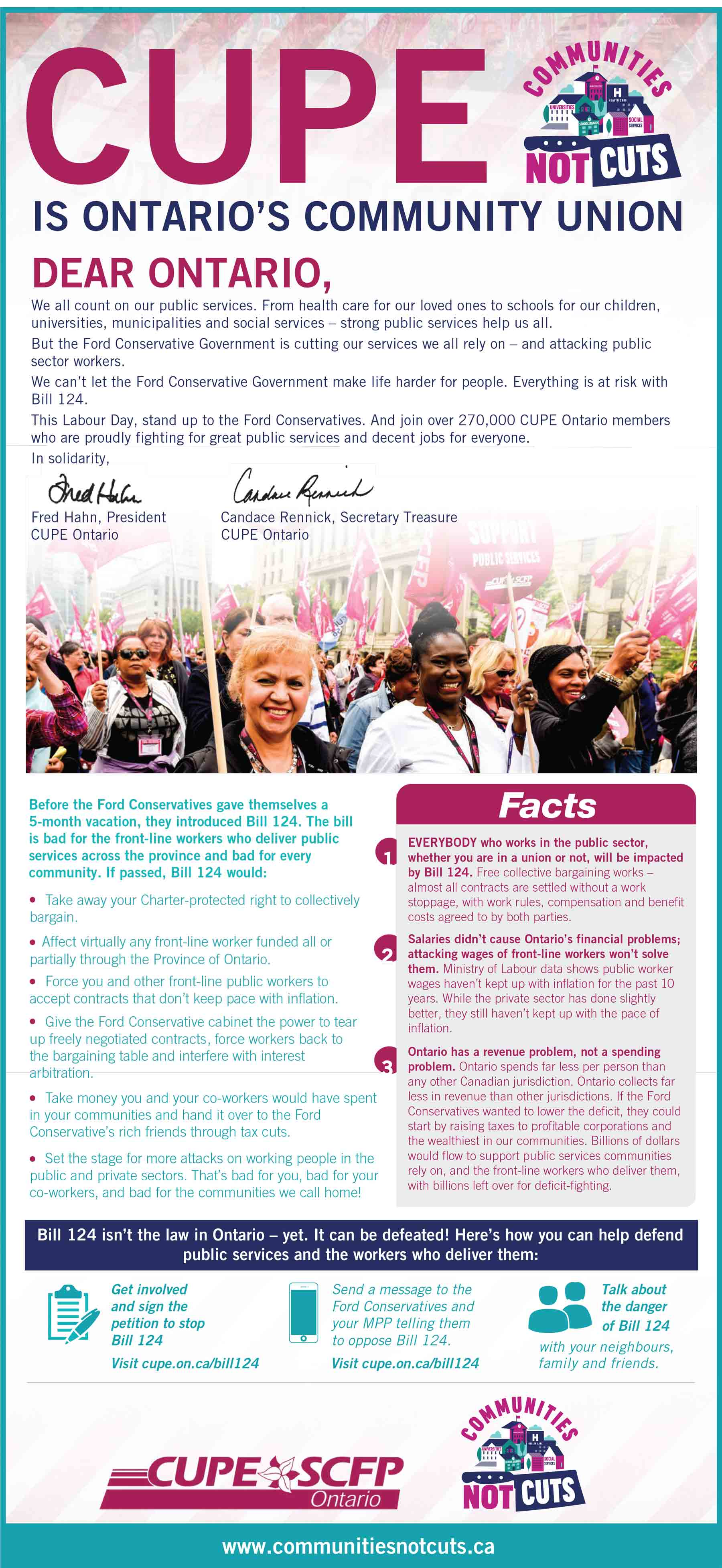 CUPE is Ontario's Community Union