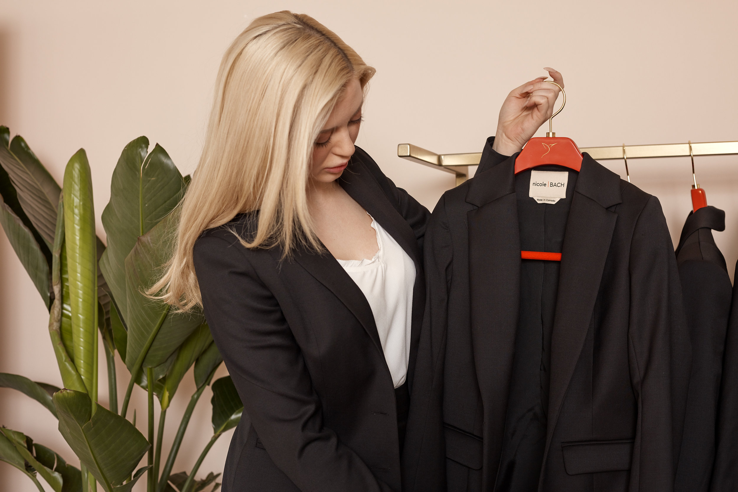 Made to measure for women, Toronto, custom suiting for women, Nicole Bach