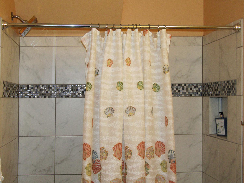 Seashell inspired bathroom interior design Atlanta Georgia.