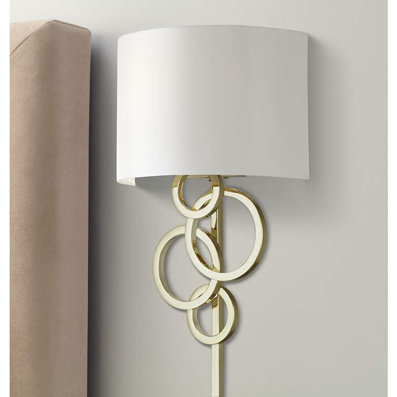 Polished Brass Sconce from Lamps Plus