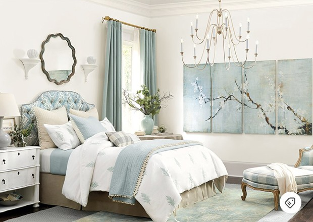 Beautiful bedroom from    Ballard Designs