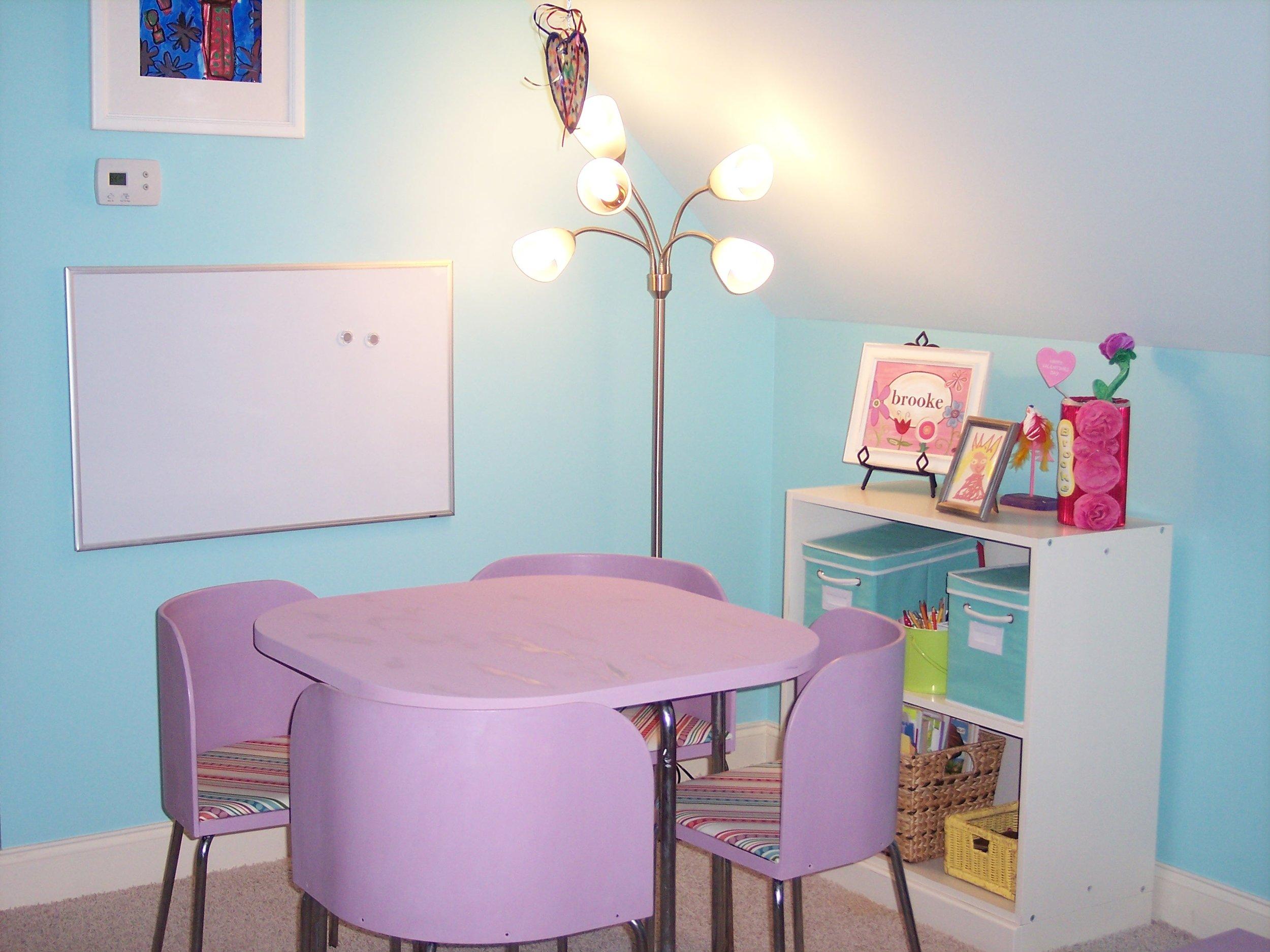 The perfect art corner. Photo courtesy of BK Designs.