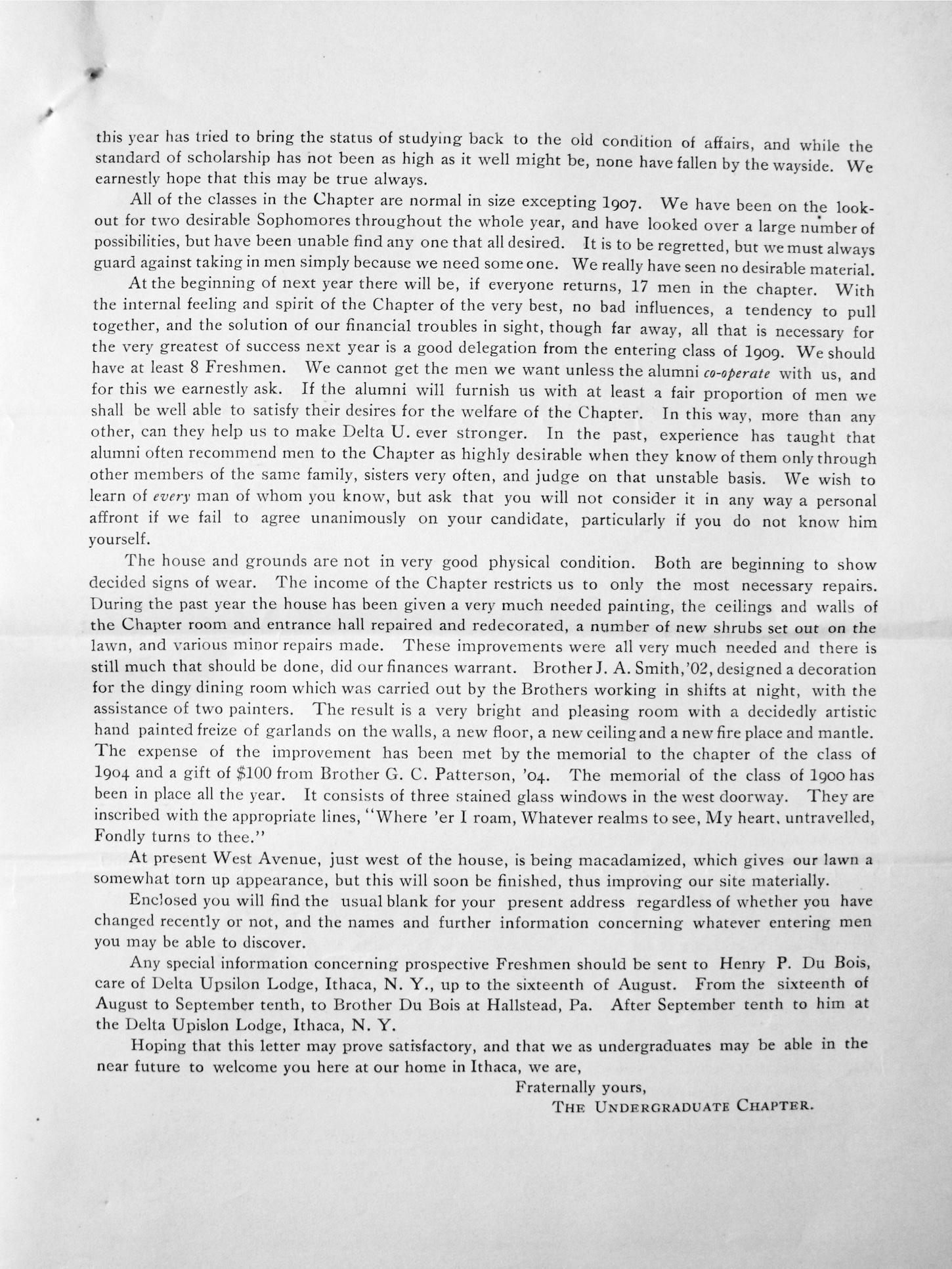 Alumni Circular 1905, P. 3