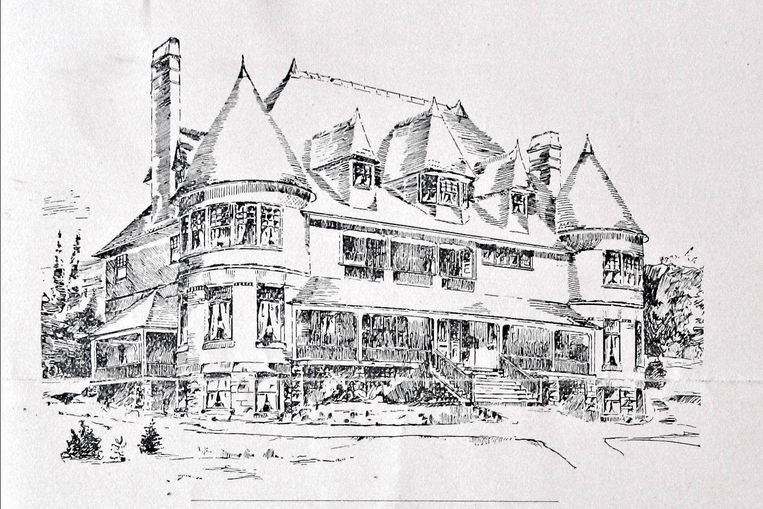 Architect's Drawing of First DU House