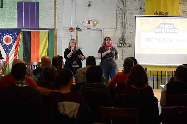 Co-creators Deena Nyer Mendlowitz & Sam Dee hosting full tilt!