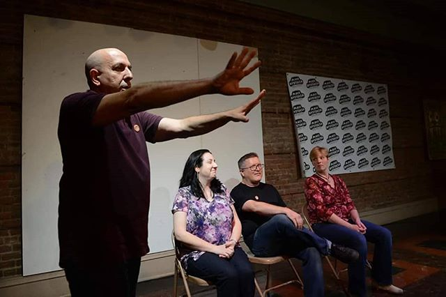 Mass Hysteria night one with RSVP kicking things off! 📷 by Jean-Marie Papoi . . . #masshysteria18 #riversidevalleyplayers #rsvpimprov #improvcle #improvcomedy #themagalen #stufftodoincleveland #improvfest #createdbywomen