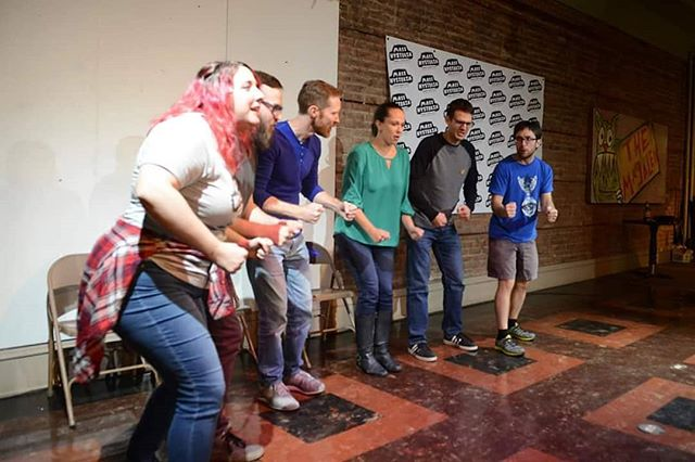 Mass Hysteria night one with @casuallylateimprov! 📷 by Jean-Marie Papoi . . . #masshysteria18 #casuallylatestampede #improvcle #improvcomedy #themagalen #stufftodoincleveland #improvfest #createdbywomen