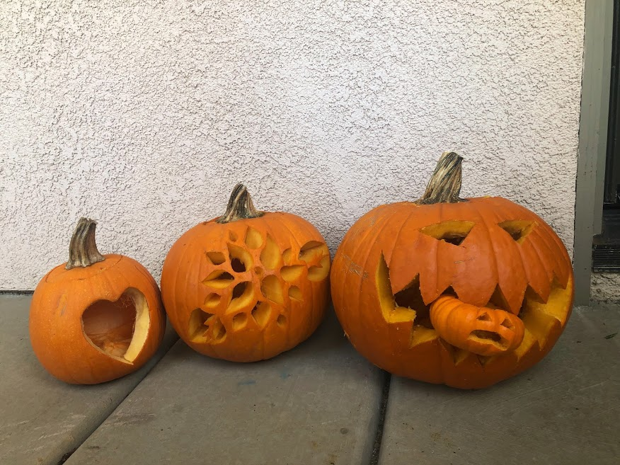 But I will totally say that I am so proud of how our pumpkins turned out!