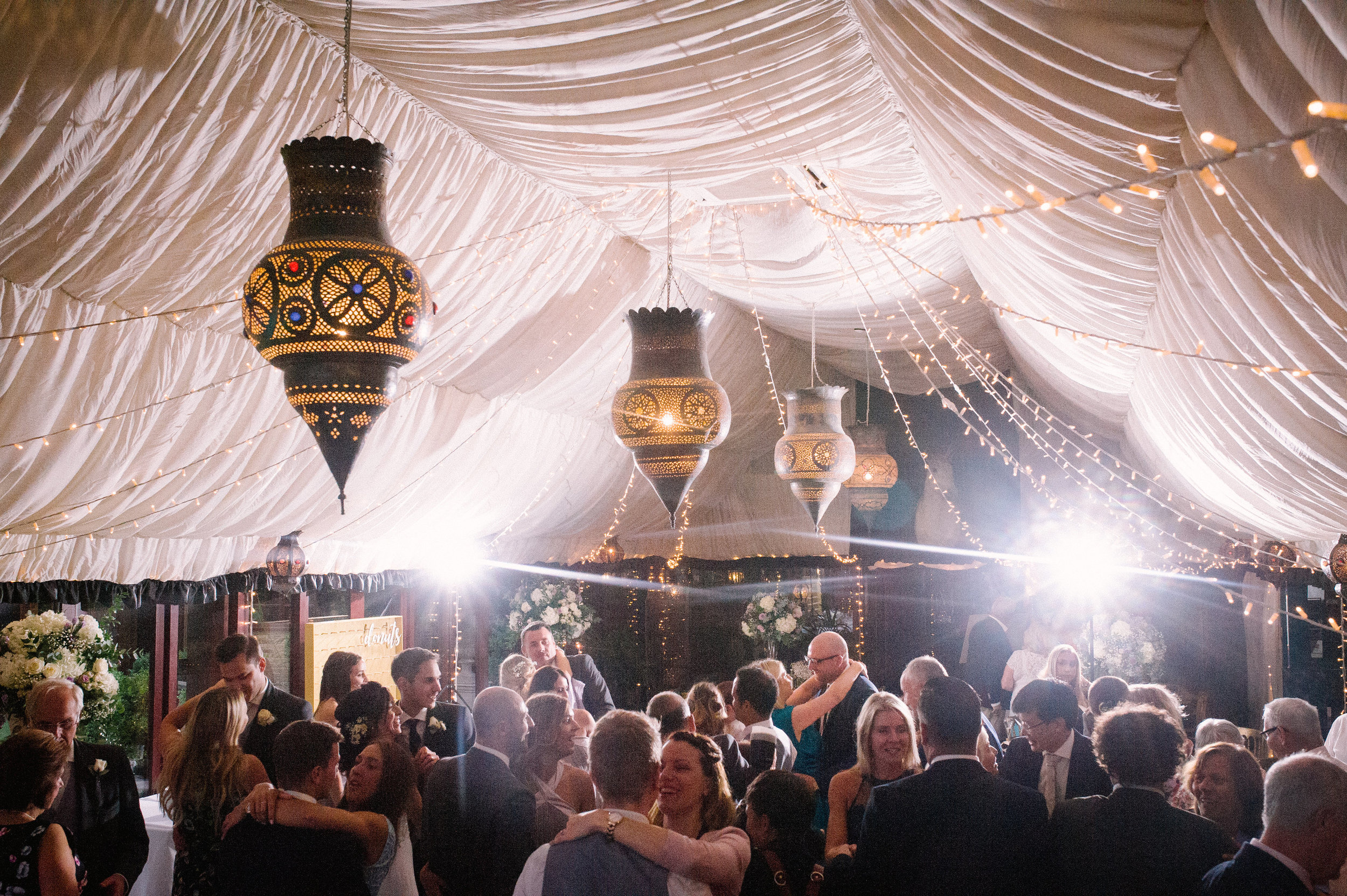 Choosing a marquee reception is perfect for a large guest list