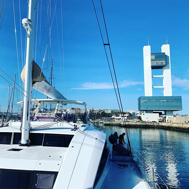 Thanks for having us A Coruña! Looks like the weather has finally given us a break to continue our journey. Next stop Portugal! #yachtlife #yacht #spain #acoruna #crew #sailing #weather #ocean #catamaran