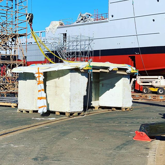 Well folks, it's the day we've been waiting for. Soon time to take the wraps off of our new................ #concarneau #boat #yachtlife #yacht #shipyard #catamaran #crew #crewlife