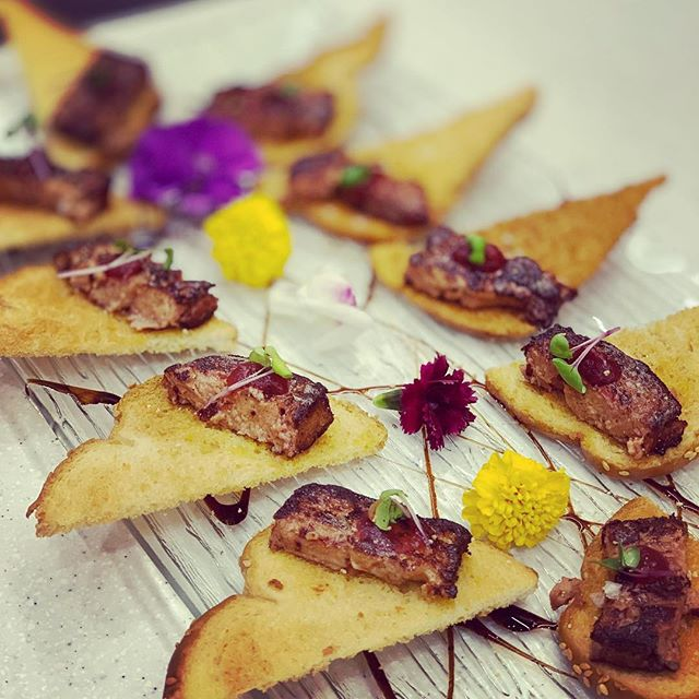 Foie Gras toasts! #charter #yachtlife #food #foiegras #canapes #stbarts #yummy
