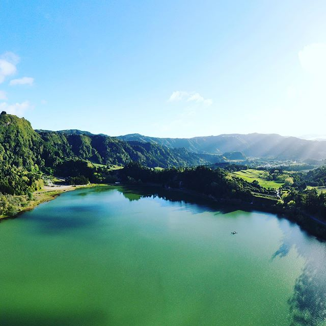 Where in the world is WindQuest? That's right, she has made it the Azores. Well done to the whole delivery crew. You've earned your lie in. #azores #furnasazores #yacht #catamarans #nature #volcaniclake