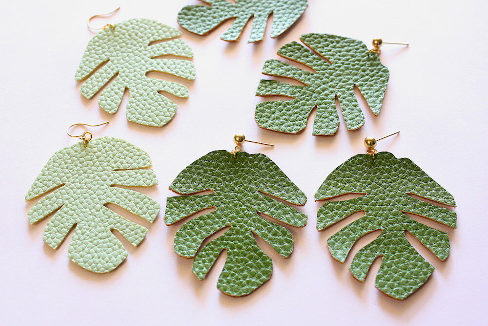 Faux Leather Leaves - catilla