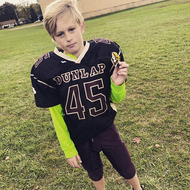 And that's a wrap! Great season with my tough little football player.
