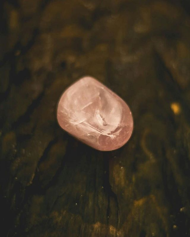 One of the first crystals I owned was a Rose quartz, but it's very large so I bought a smaller one as well. ⁣⁣⁣ ⁣⁣⁣ It's the stone of unconditional love, opens up the heart chakra and gives positive energy. ⁣⁣ ⁣⁣ There is a myth that Cupid, god of desire or Eros, the god of love gave humans the gift of love through this stone. You can read more about its properties on Energymuse.com, my favourite go to website for all things about crystals. 💎✨
