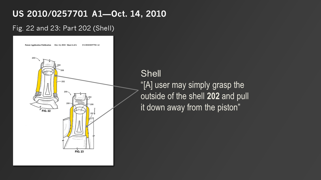 Patent sketch highlight and callout