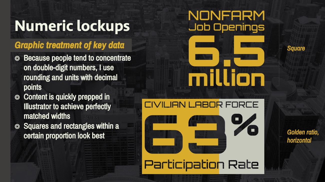 Infographics: Text-numeric lockup