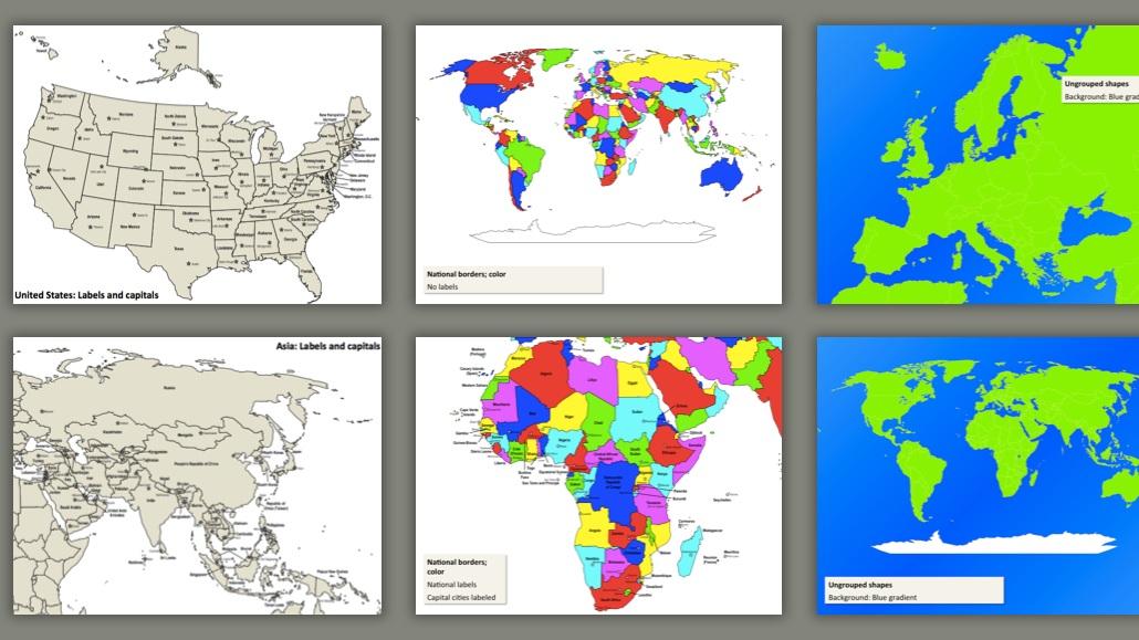 Customizable maps