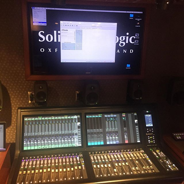 Got to hang out with the guys from @solidstatelogic yesterday in their awesome truck. Not only was their gear amazing, but they made a mean cup of coffee too! #iwantone  #tftgear