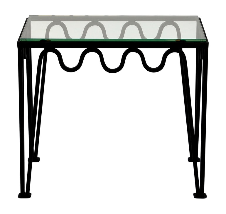 The Meandre Blackened Steel And Glass Side Table Blend Interiors