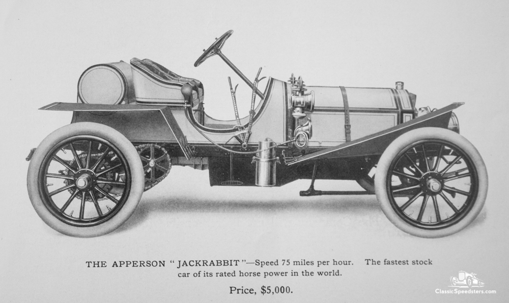 1907 Apperson JackRabbit courtesy Elwood Haynes Museum.