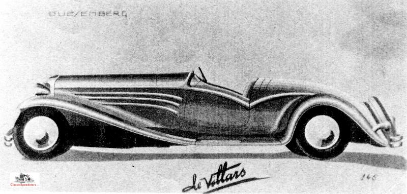 de Villars Duesenberg speedster-roadster concept  courtesy National Automotive Collection, Detroit Public Library