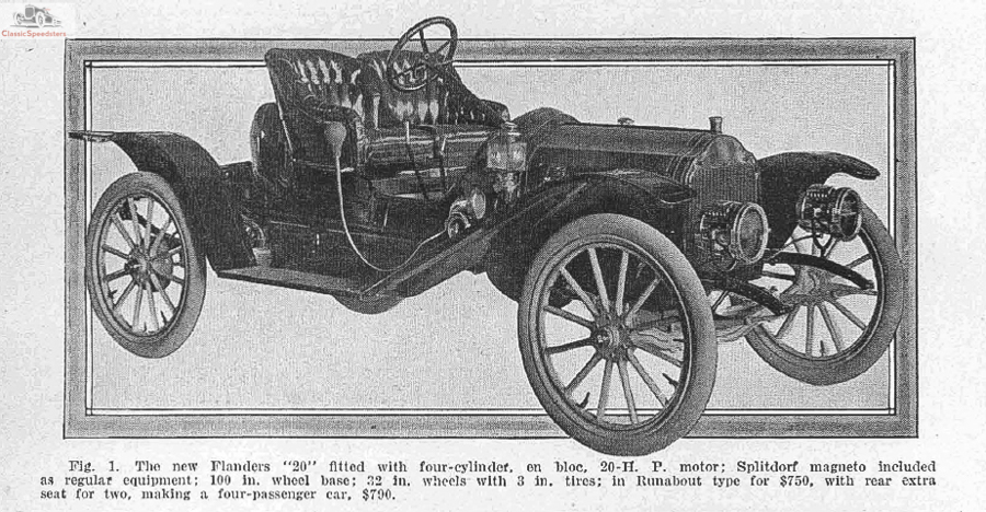 1910 Flanders 20 Roadster. Image courtesy Horseless Carriage Foundation Inc.