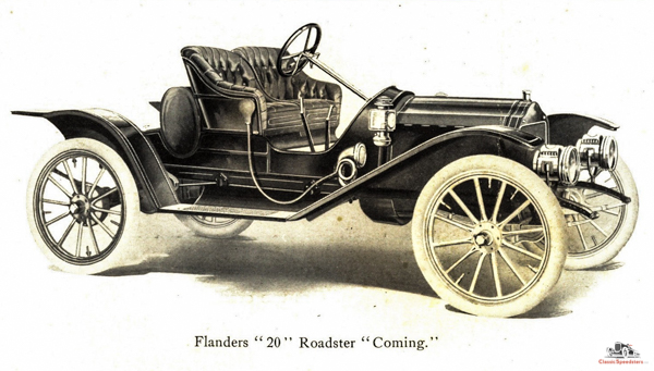 1910 Flanders 20 Racy Roadster from front