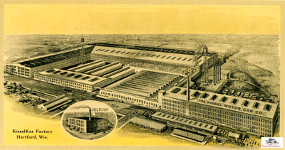 Kissel Factory Hartford, WI circa 1912, plus 2nd factory in Milwaukee!