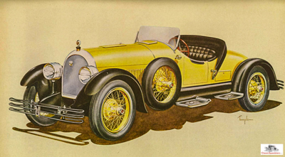 1923 Kissel Model 55 Speedster.  Illustration courtesy AACA Library