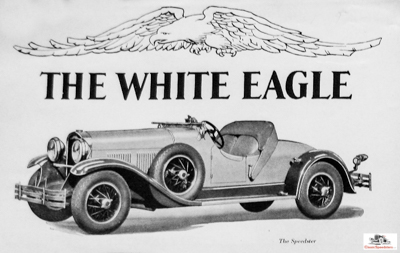 1929 Kissel White Eagle Speedster.  Illustration courtesy Wisconsin Automotive Museum